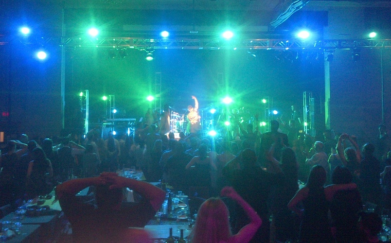 Photo of - Private concert live band on stage with LED lights